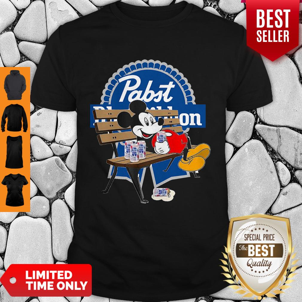 Top Mickey Mouse Drink Pabst Blue Ribbon Shirt