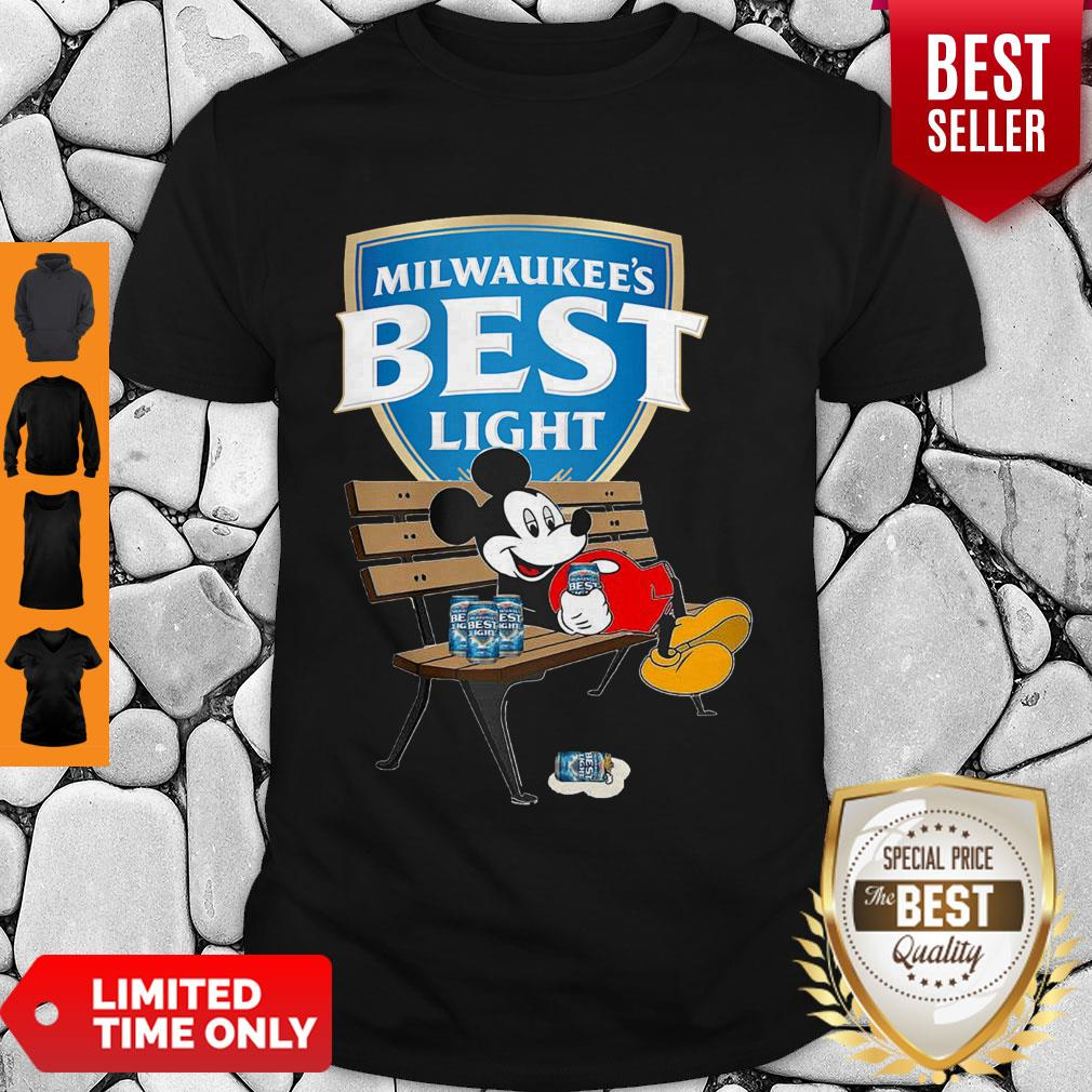 Top Mickey Mouse Drink Milwaukee's Best Light Beer Shirt