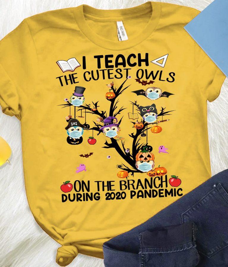 Teacher Teach The Cutest Owls Halloween 2020 School Tree Classic T-Shirt
