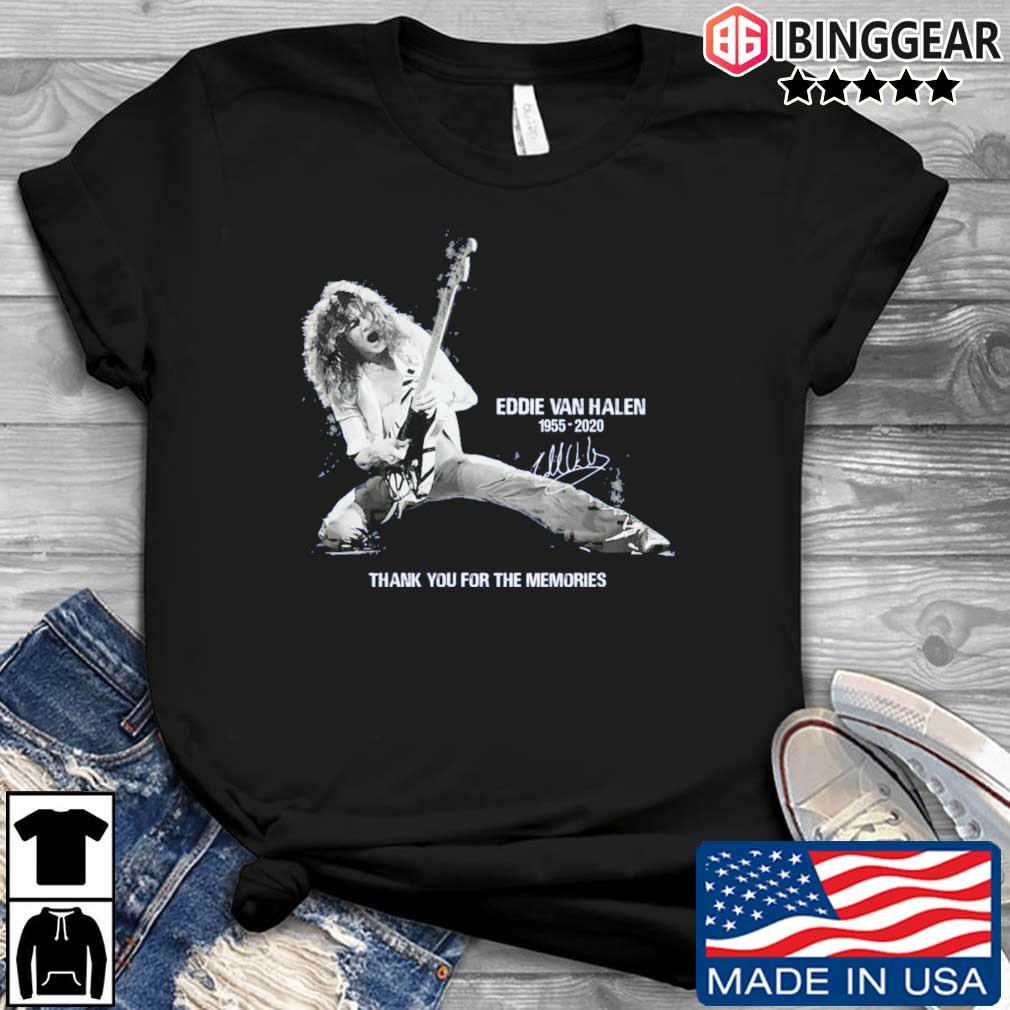 Eddie Van Halen 1955-2020 thank you for the memories signature shirt