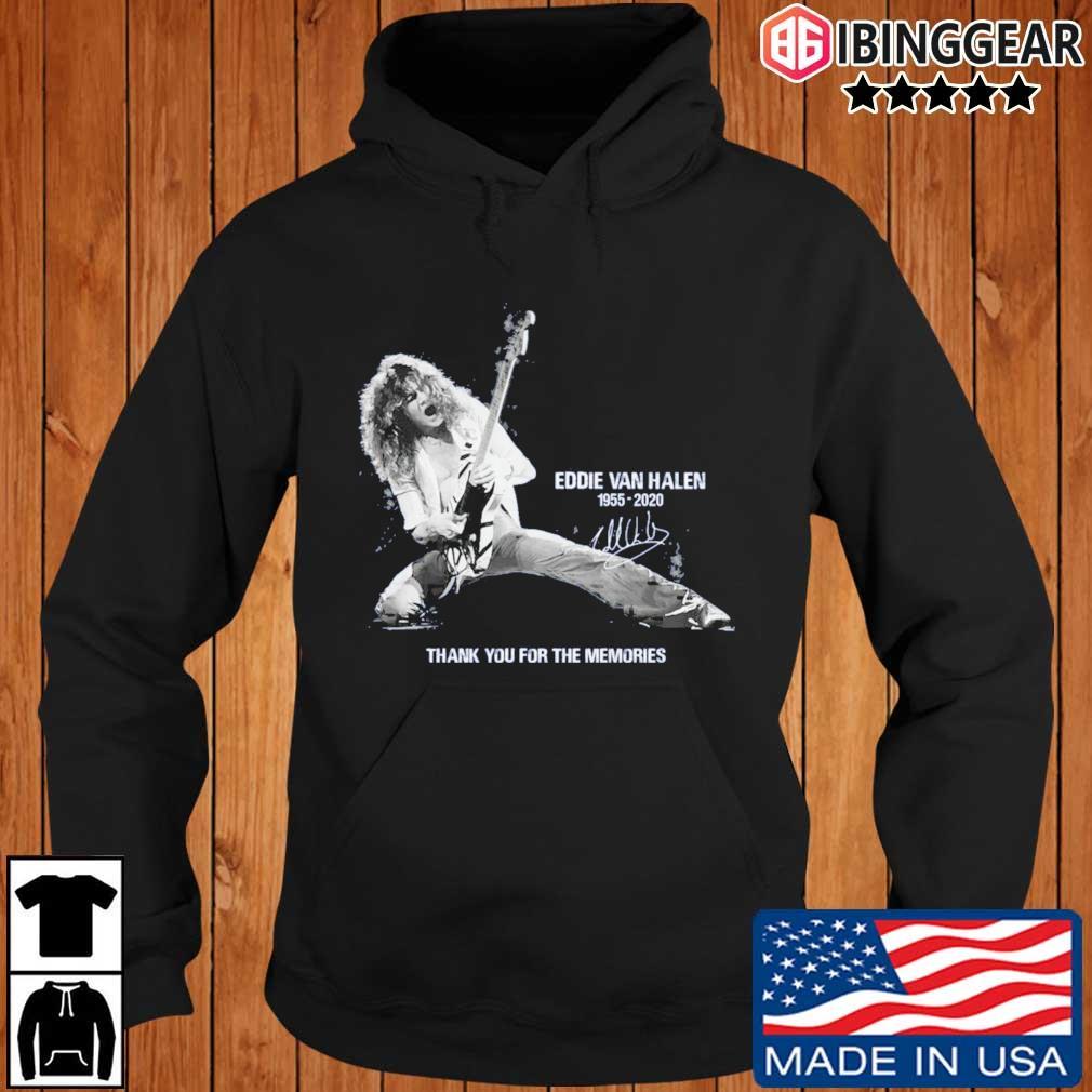 Eddie Van Halen 1955-2020 thank you for the memories signature s Ibinggear hoodie den