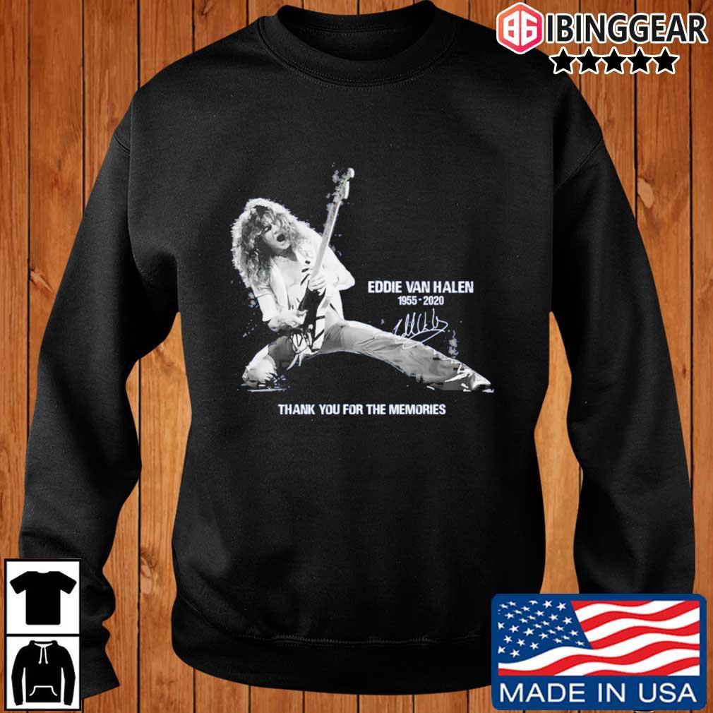 Eddie Van Halen 1955-2020 thank you for the memories signature s Ibinggear sweater den