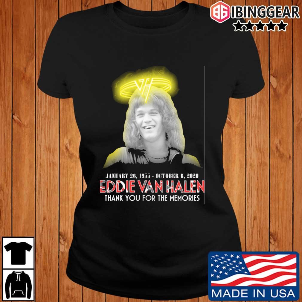 Eddie Van Halen january 26 1995 october 6 2020 thank you for the memories s Ibinggear ladies den