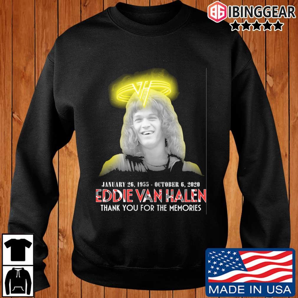 Eddie Van Halen january 26 1995 october 6 2020 thank you for the memories s Ibinggear sweater den