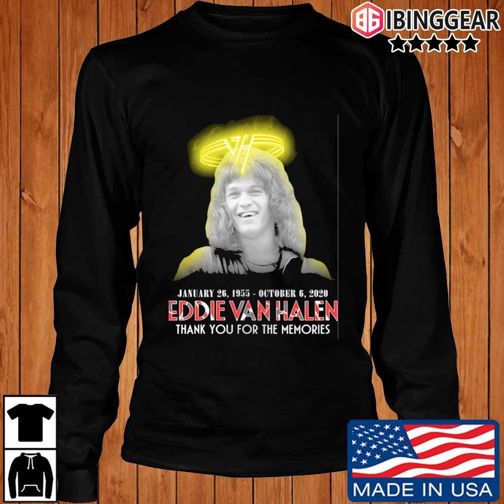 Eddie Van Halen january 26 1995 october 6 2020 thank you for the memories s Longsleeve Ibinggear den