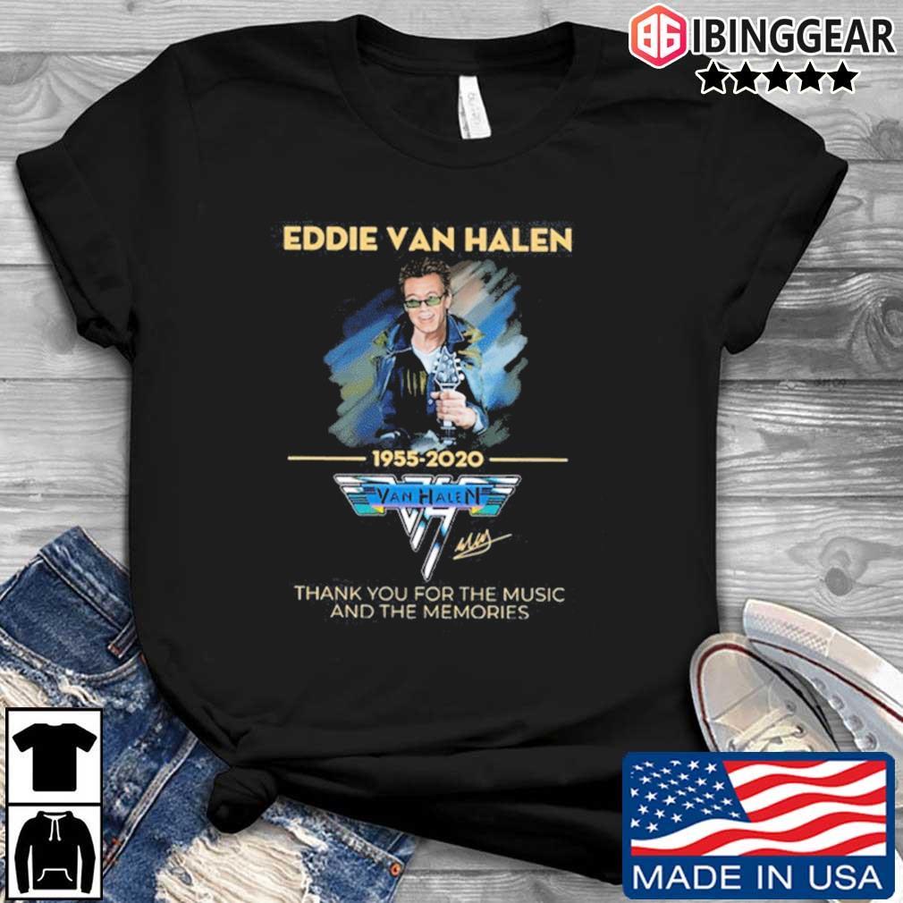 Eddie Van Halen Thank You For The Memories 1955-2020 Tee Shirts