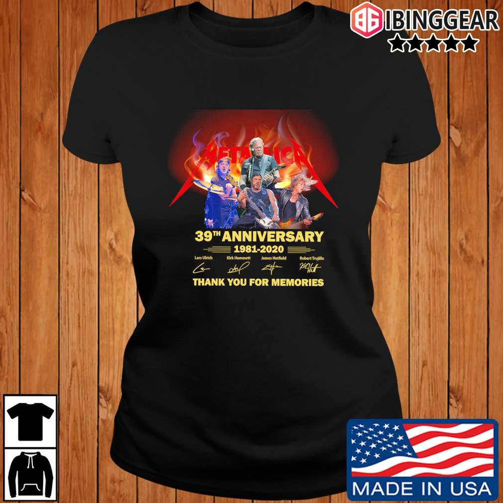 Metallica 39th anniversary 1981-2020 thank you for the memories signatures s Ibinggear ladies den