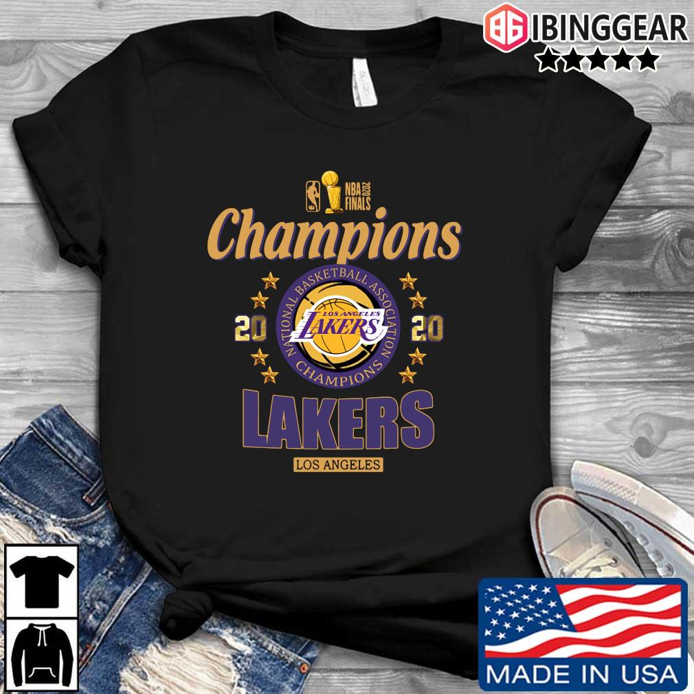 NBA 2020 finals Champions Los Angeles Lakers basketball shirt