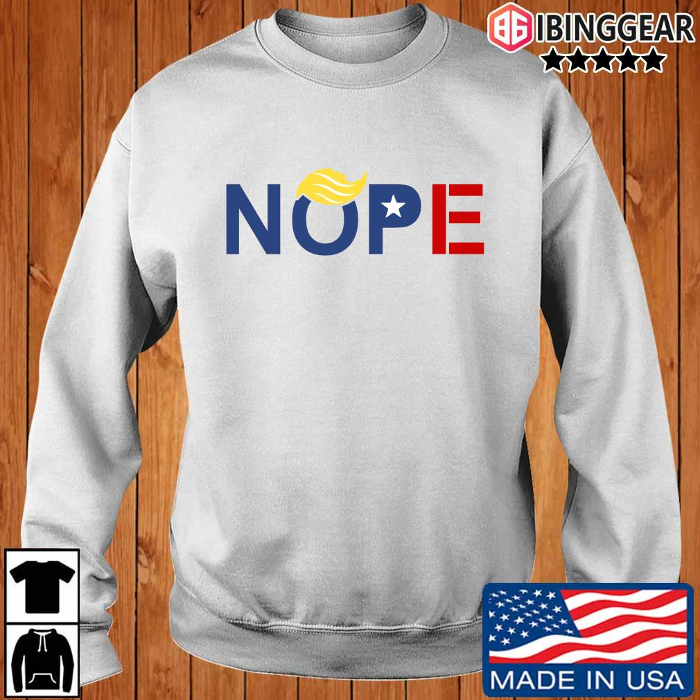 Nope ByeDon 2020 Trump Hair Vote Biden For Shirt Ibinggear sweater trang