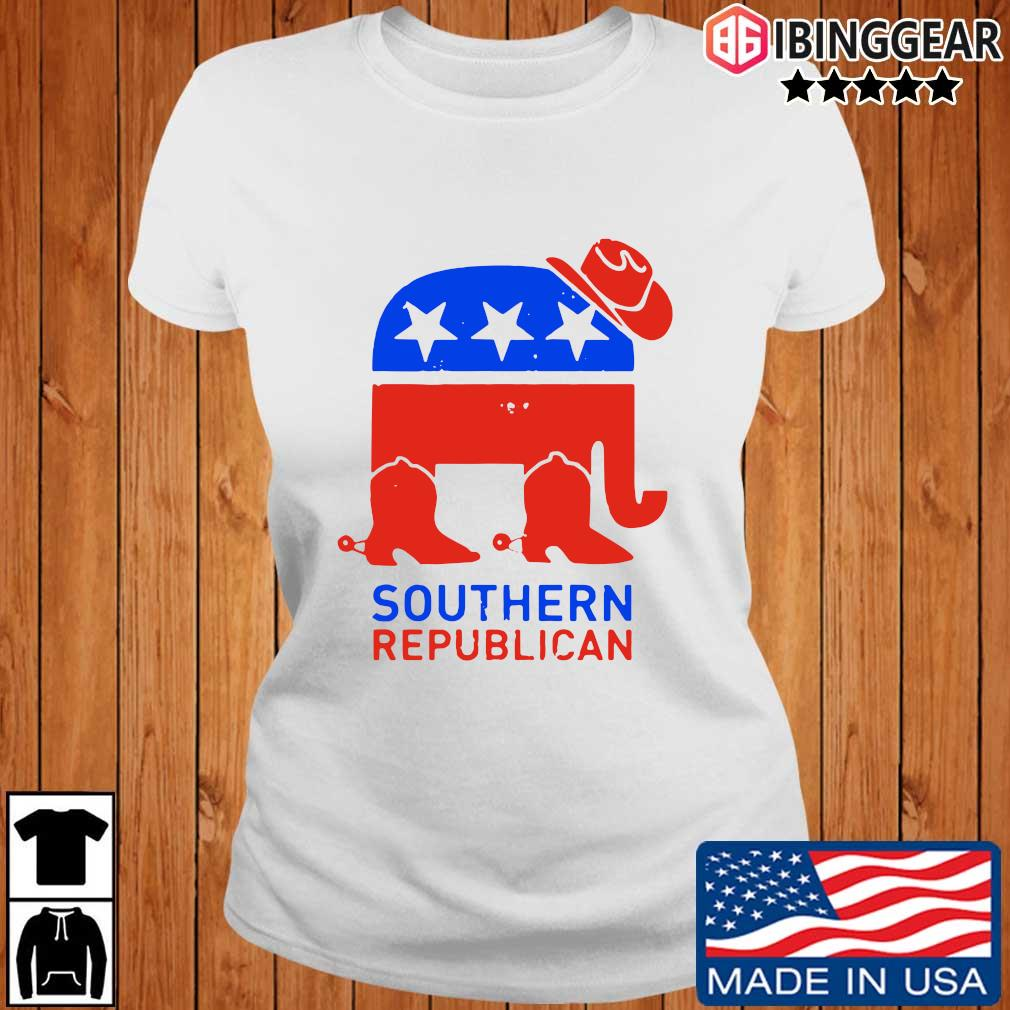 Southern Republican American Flag Shirt Ibinggear ladies trang