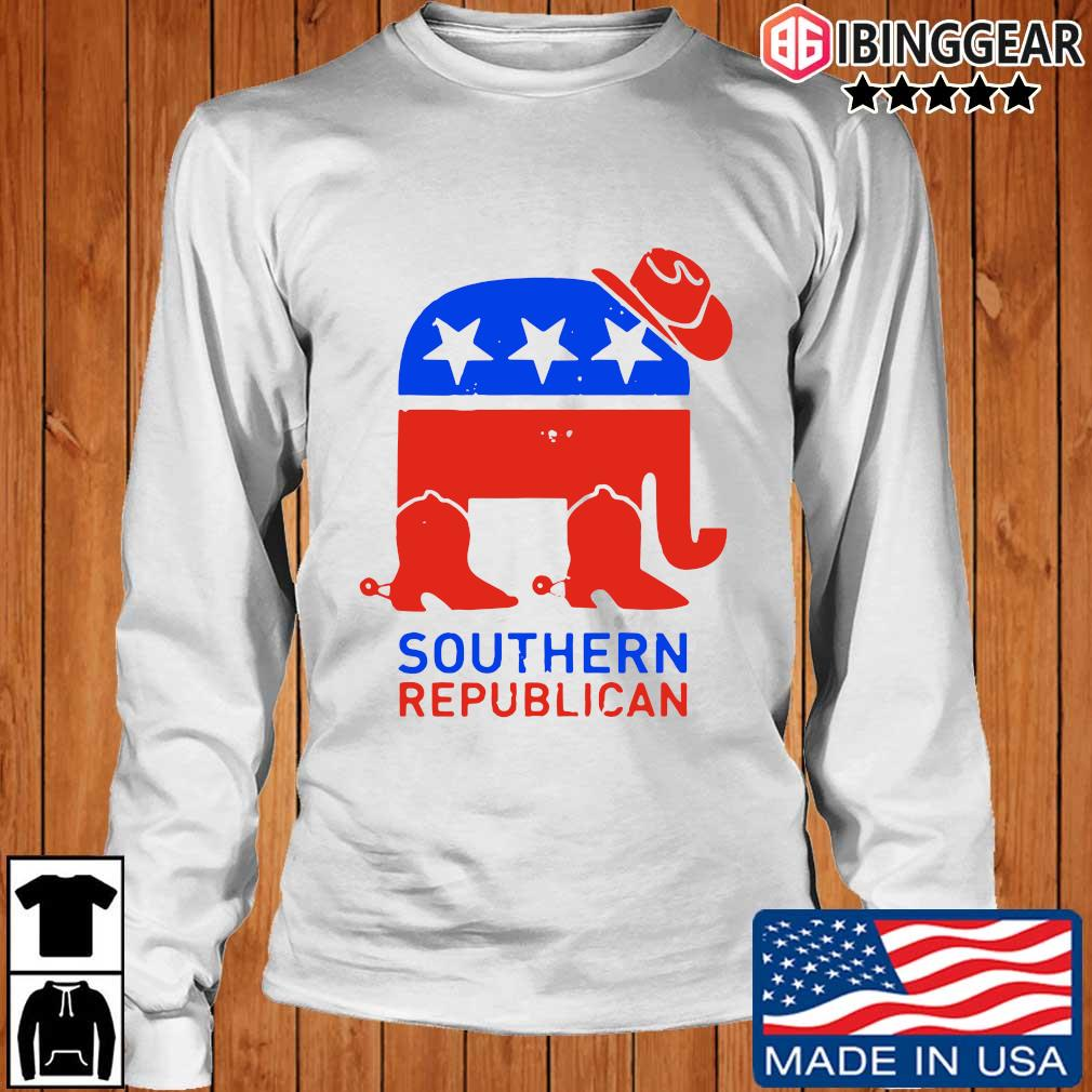 Southern Republican American Flag Shirt Longsleeve Ibinggear trang
