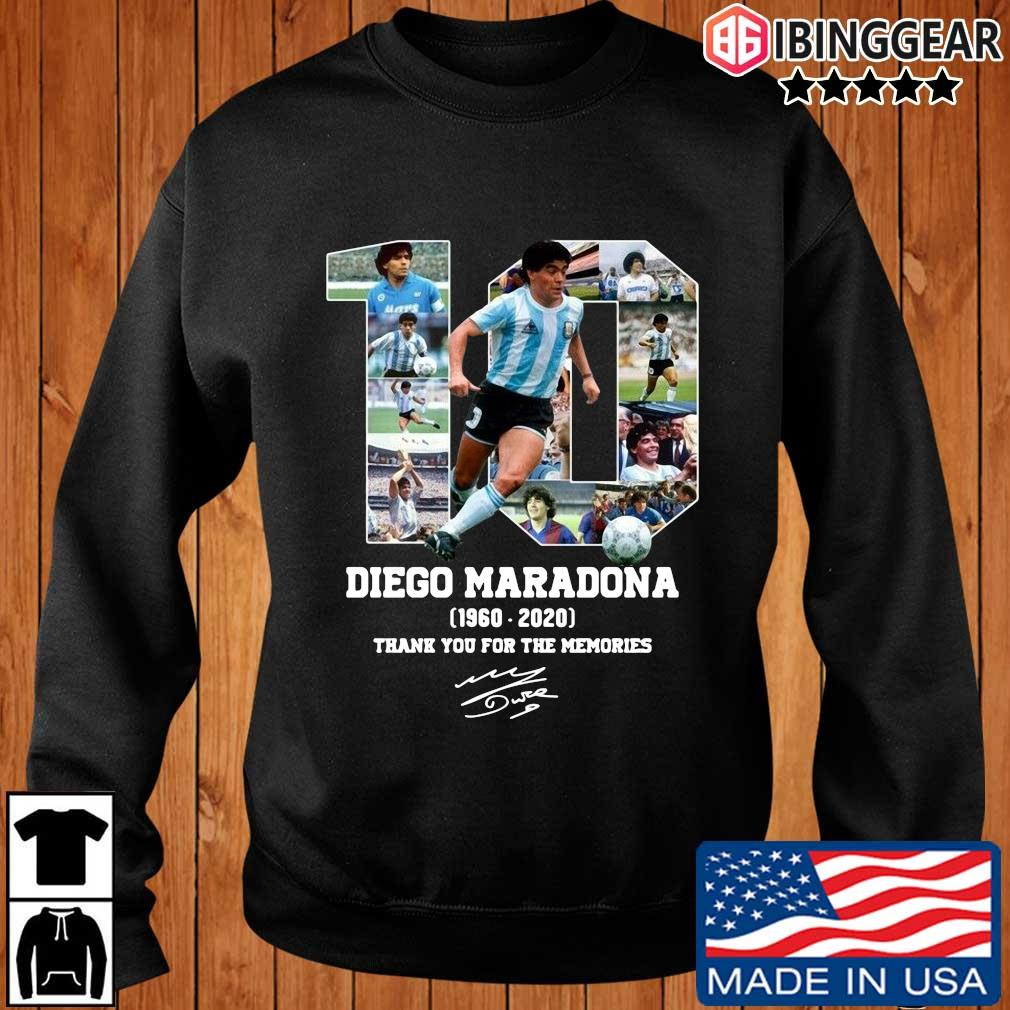 10 Diego Maradona 1960-2020 thank you for the memories signature shirt