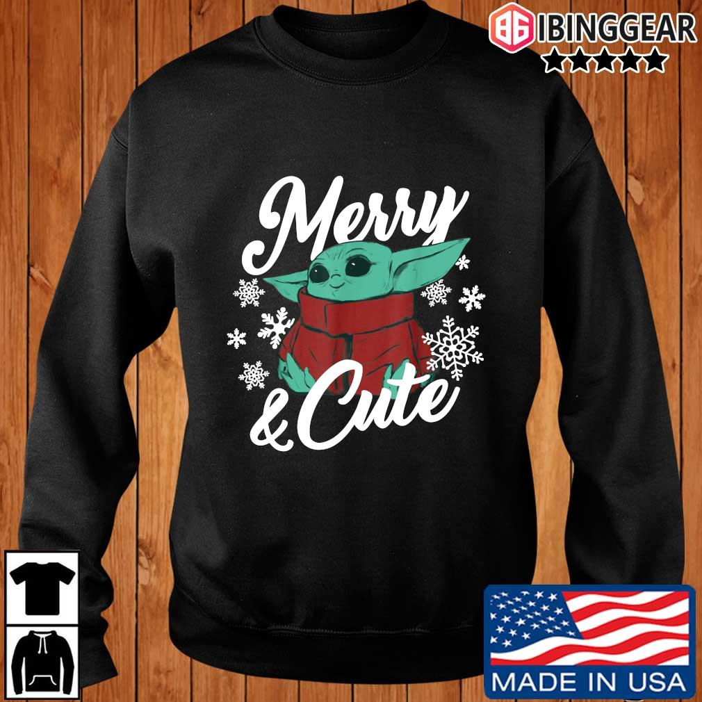 Baby Yoda Christmas The Child Merry and Cute Shirt, Sweater