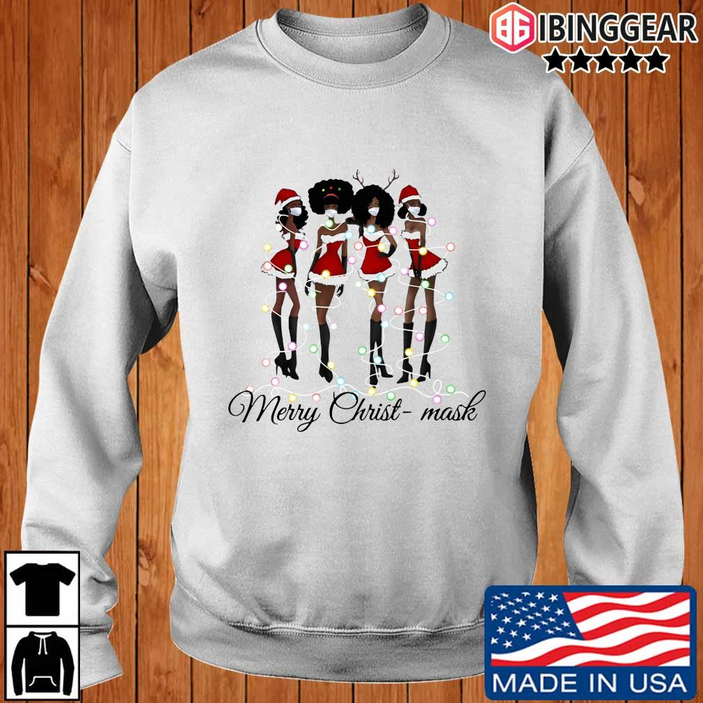 Official Black girls Friends face mask Merry Christ-Mask Christmas sweater