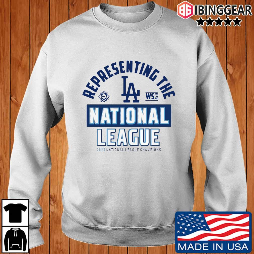Representing the Los Angeles national league 2020 national league champions shirt