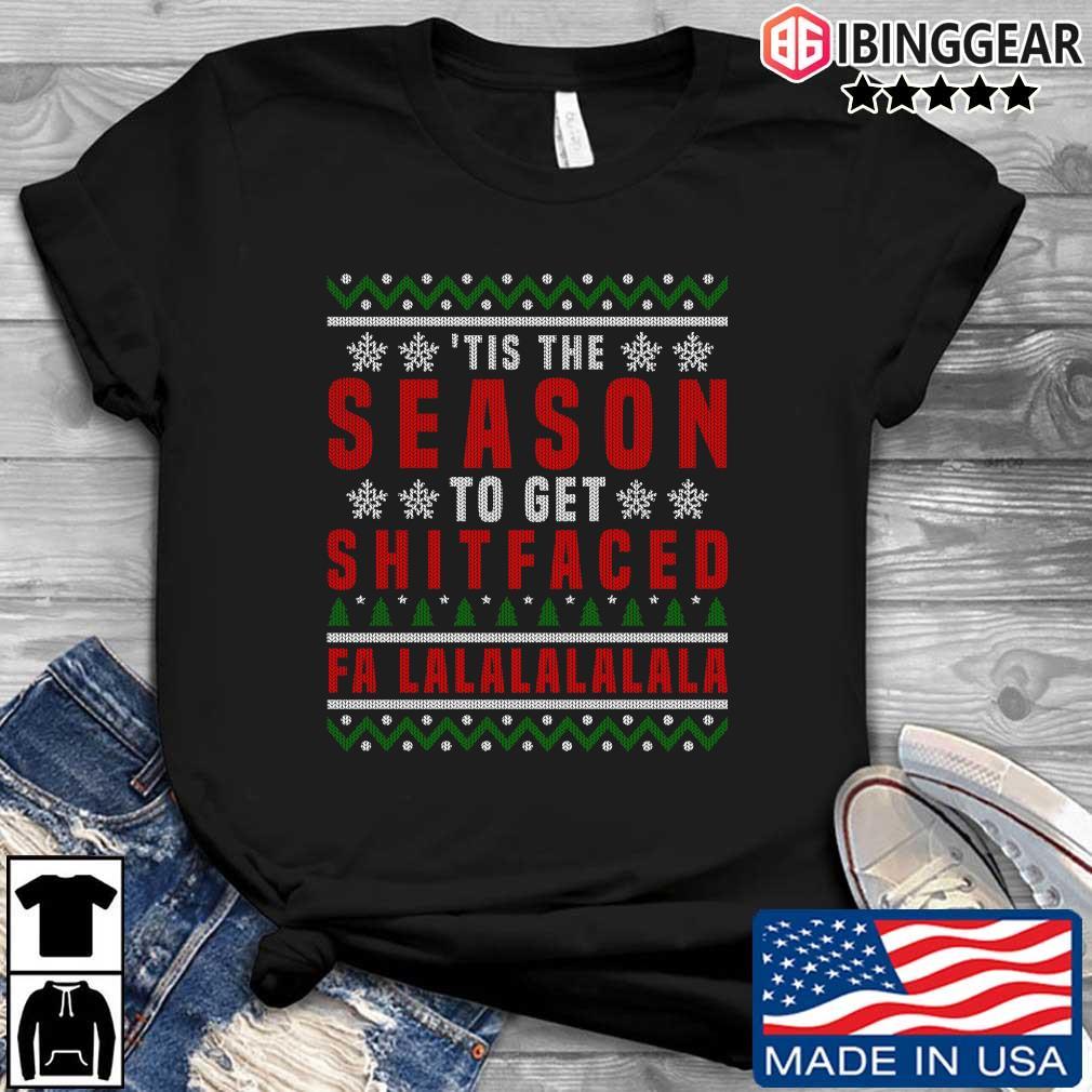 'Tis the to get shitfaced falalalala Ugly Christmas sweater Ibinggear den dai dien