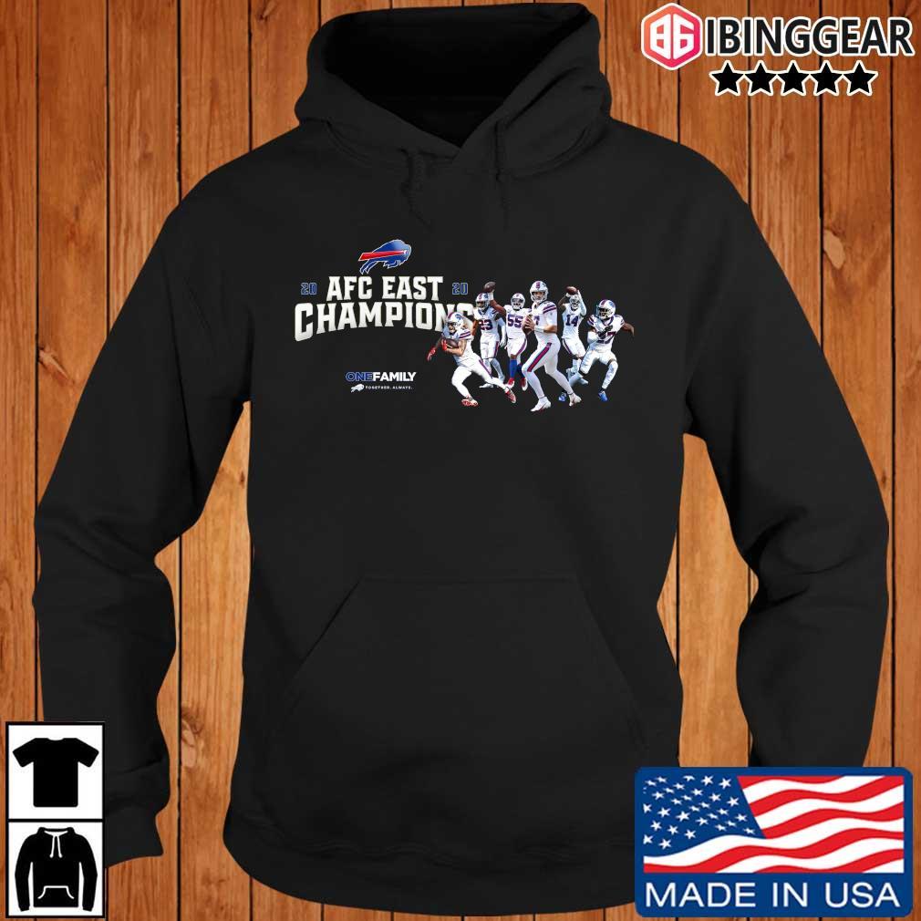 Buffalo Bills 2020 AFC East Champions one family sweats Ibinggear hoodie den