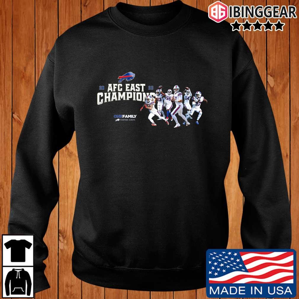 Buffalo Bills 2020 AFC East Champions one family sweatshirt