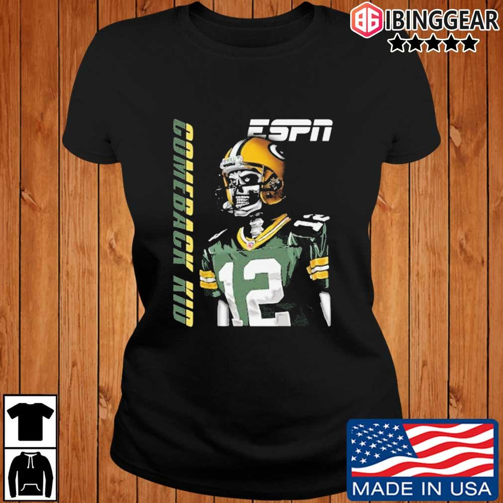 Aaron Rodgers Green Bay Packers Comeback Kid Shirt Ibinggear ladies den