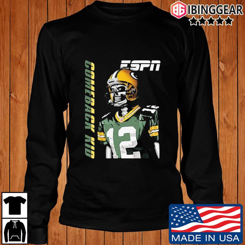 Aaron Rodgers Green Bay Packers Comeback Kid Shirt Longsleeve Ibinggear den