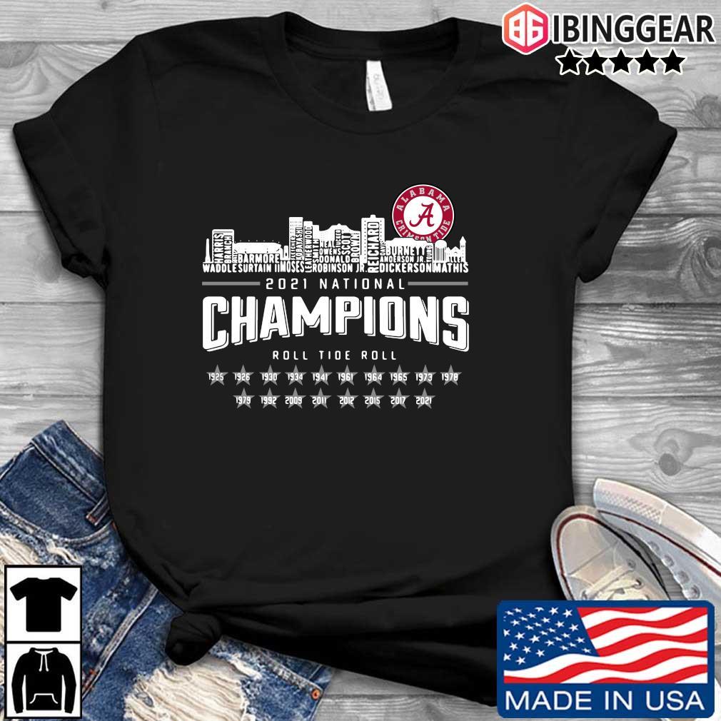 Alabama Crimson Tide 2021 national Champions roll Tide roll 1935-2021 s Ibinggear den dai dien
