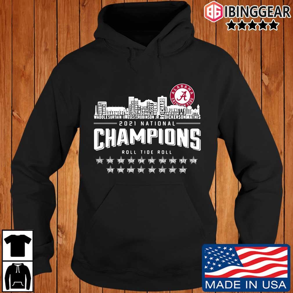Alabama Crimson Tide 2021 national Champions roll Tide roll 1935-2021 s Ibinggear hoodie den