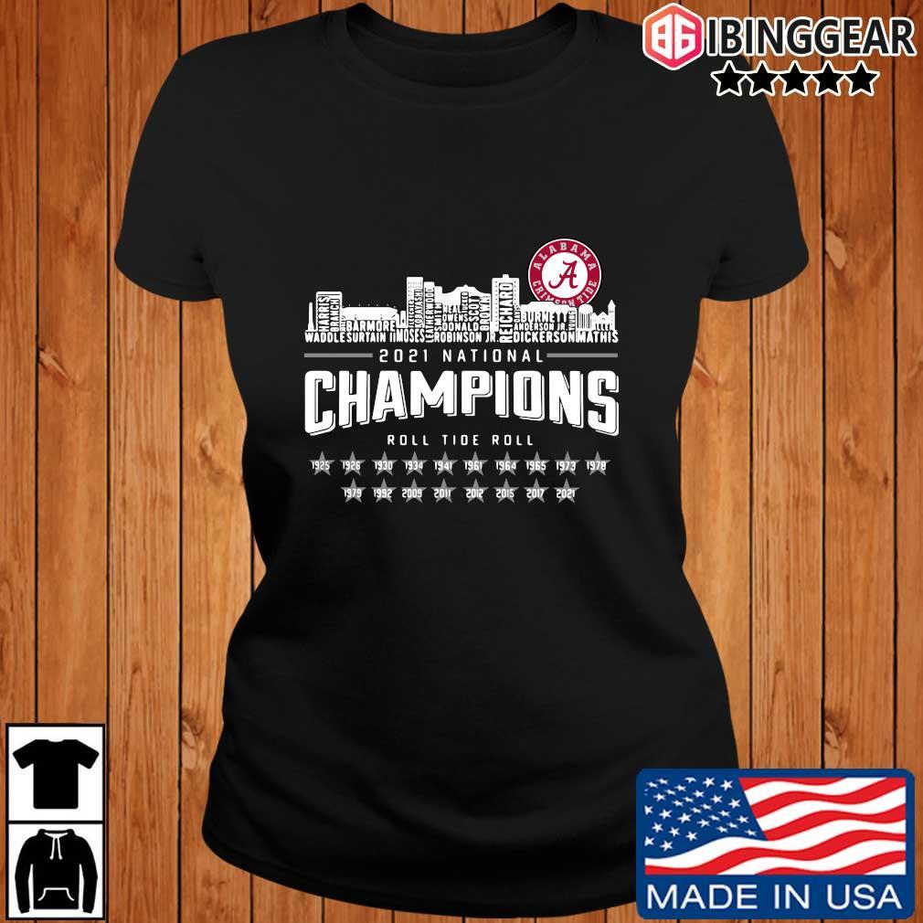 Alabama Crimson Tide 2021 national Champions roll Tide roll 1935-2021 s Ibinggear ladies den