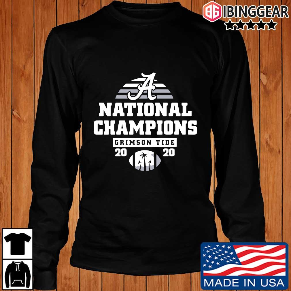 Alabama Crimson Tide national Champions 2020 s Longsleeve Ibinggear den