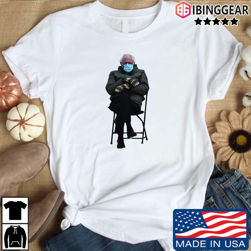 Bernie Sanders Sitting In Chair Inauguration Funny Meme Shirt