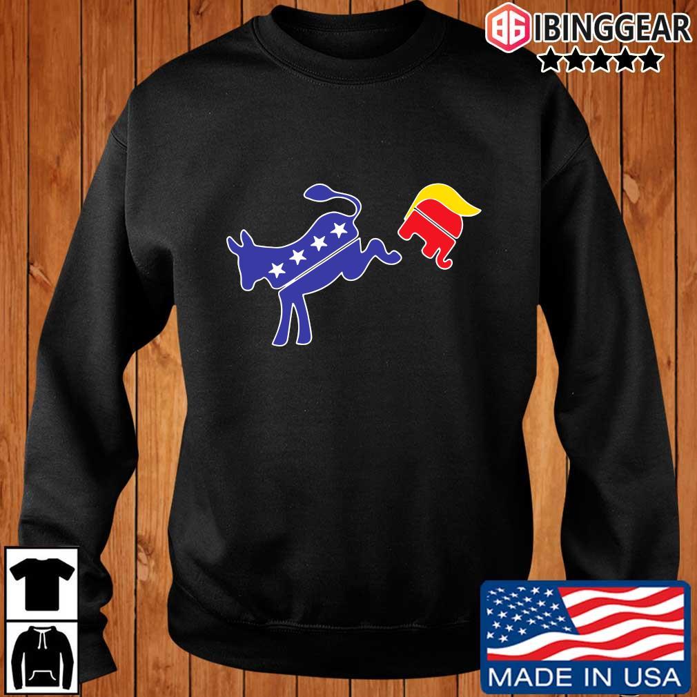 Biden donkey kick Trump elephant shirt