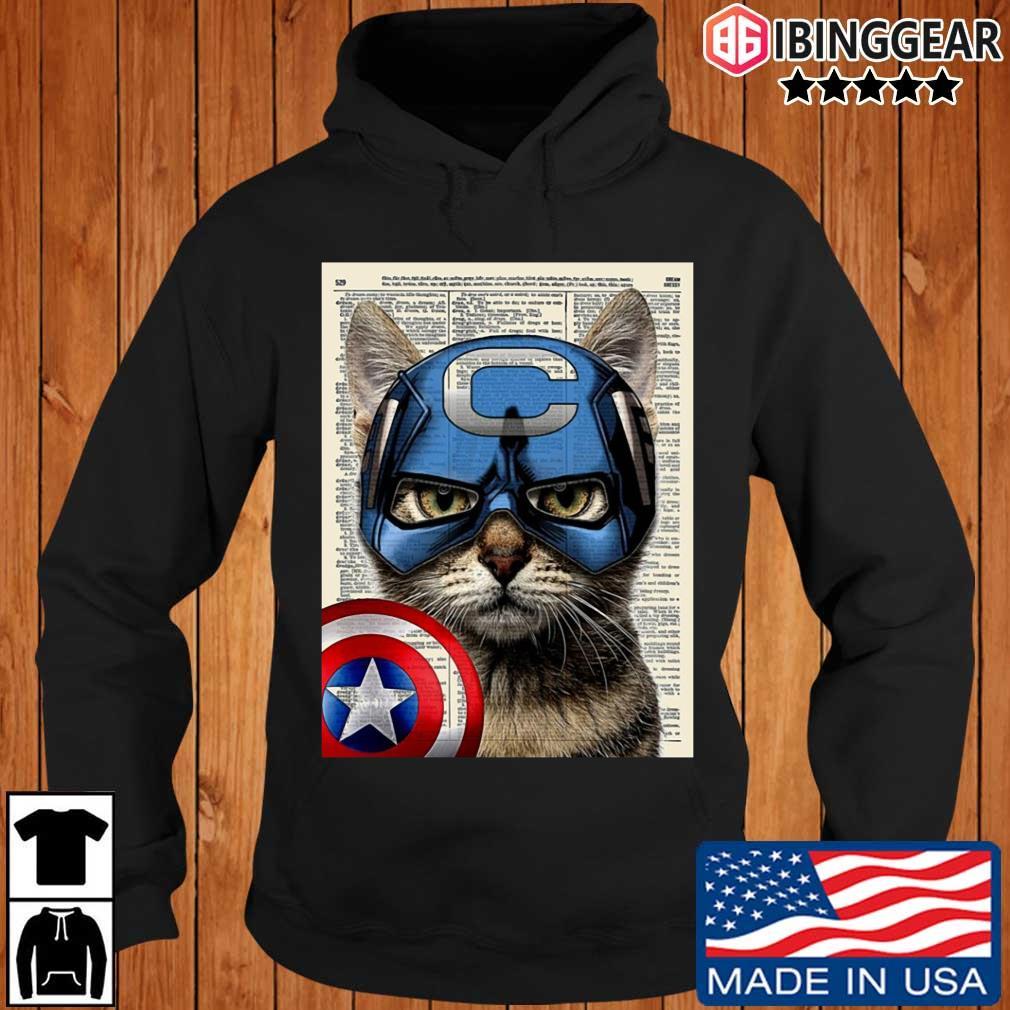Cat Captain America s Ibinggear hoodie den