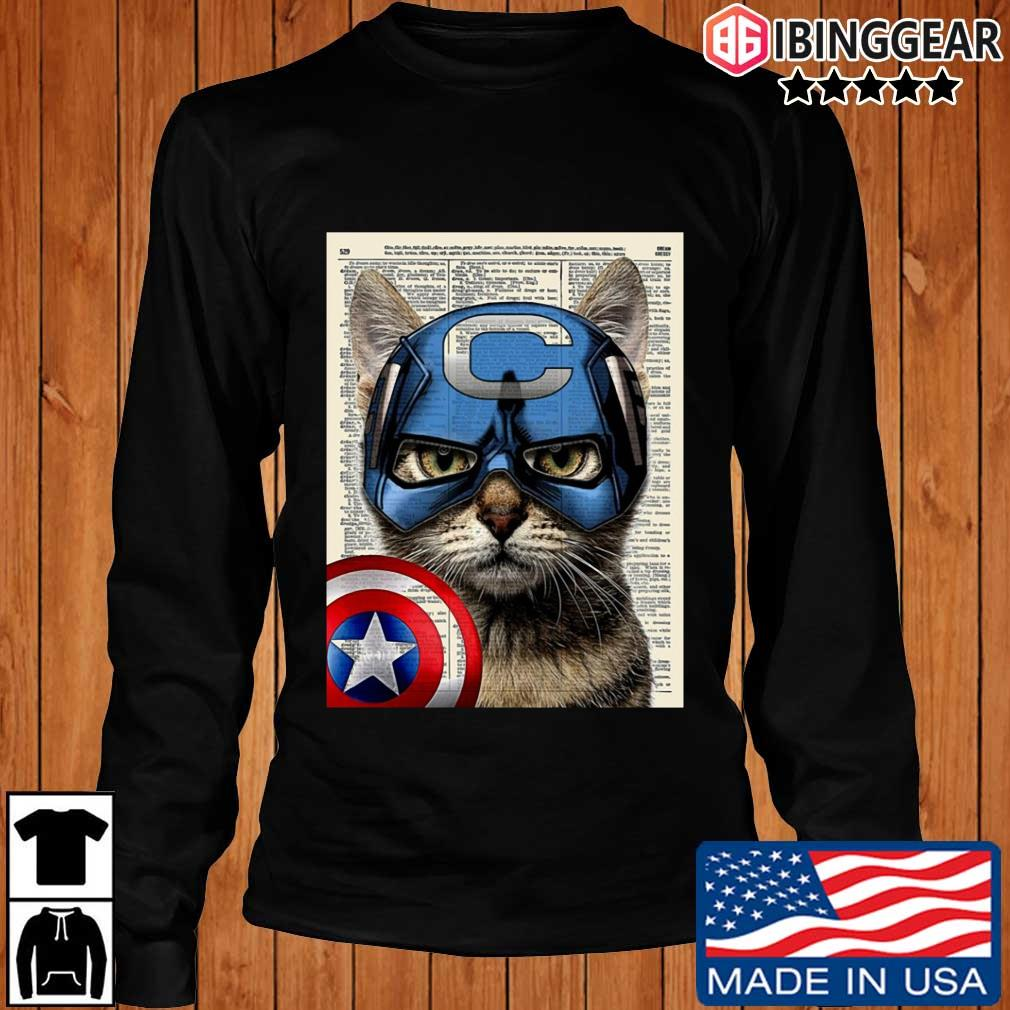 Cat Captain America s Longsleeve Ibinggear den