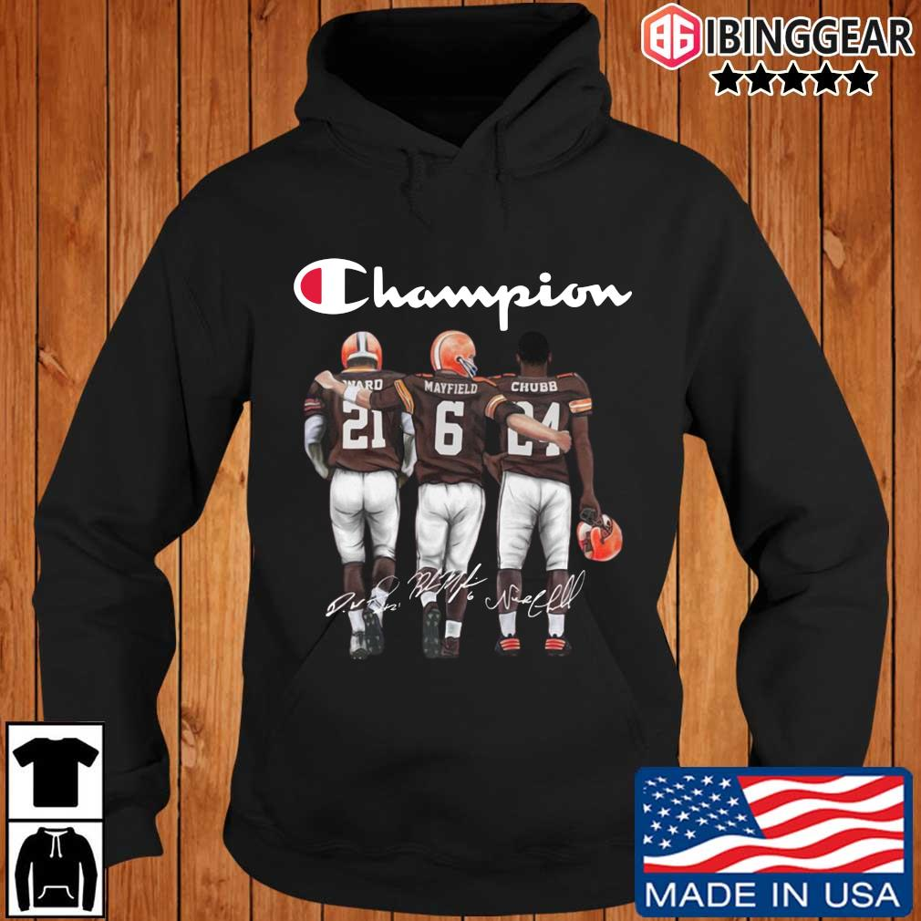 Cleveland Browns Champion Mayfield Chubb signatures s Ibinggear hoodie den