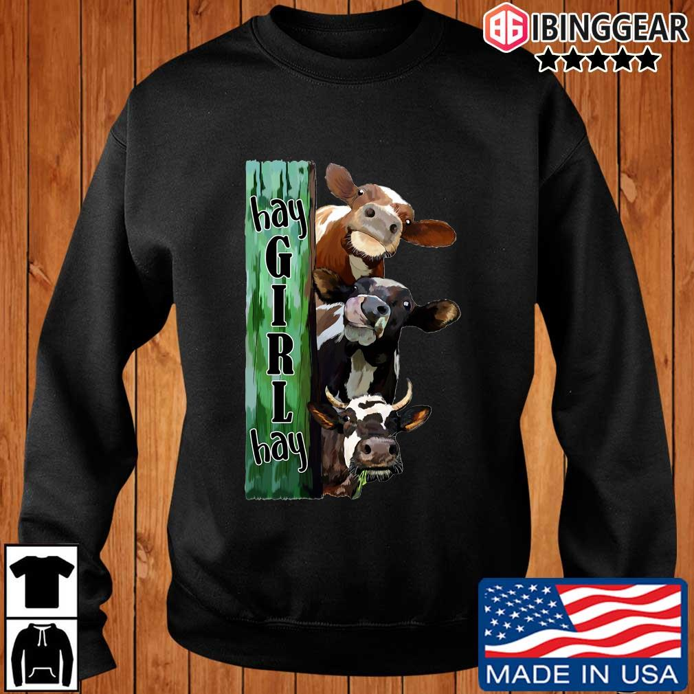 Cows hay girl hay shirt