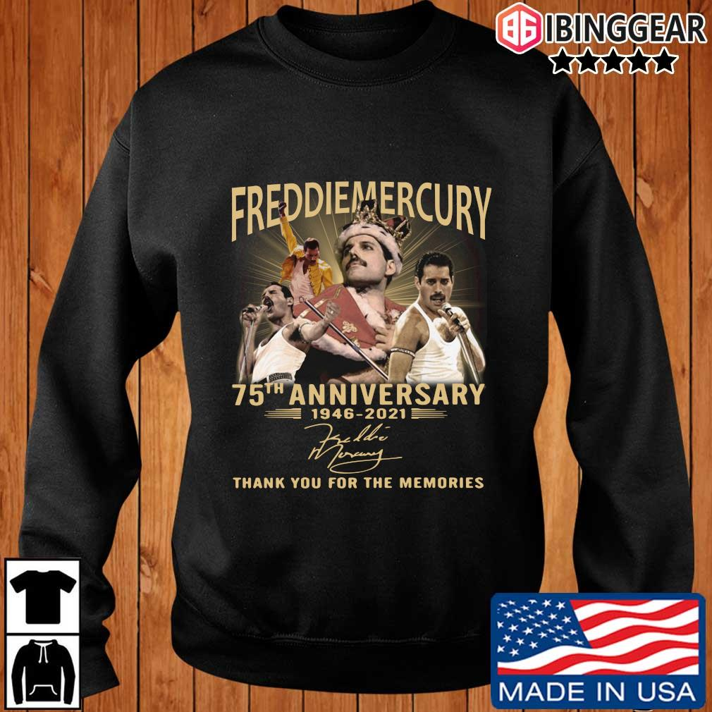 Freddiemercury 75th anniversary 1946-2021 thank you for the memorie signatures shirt