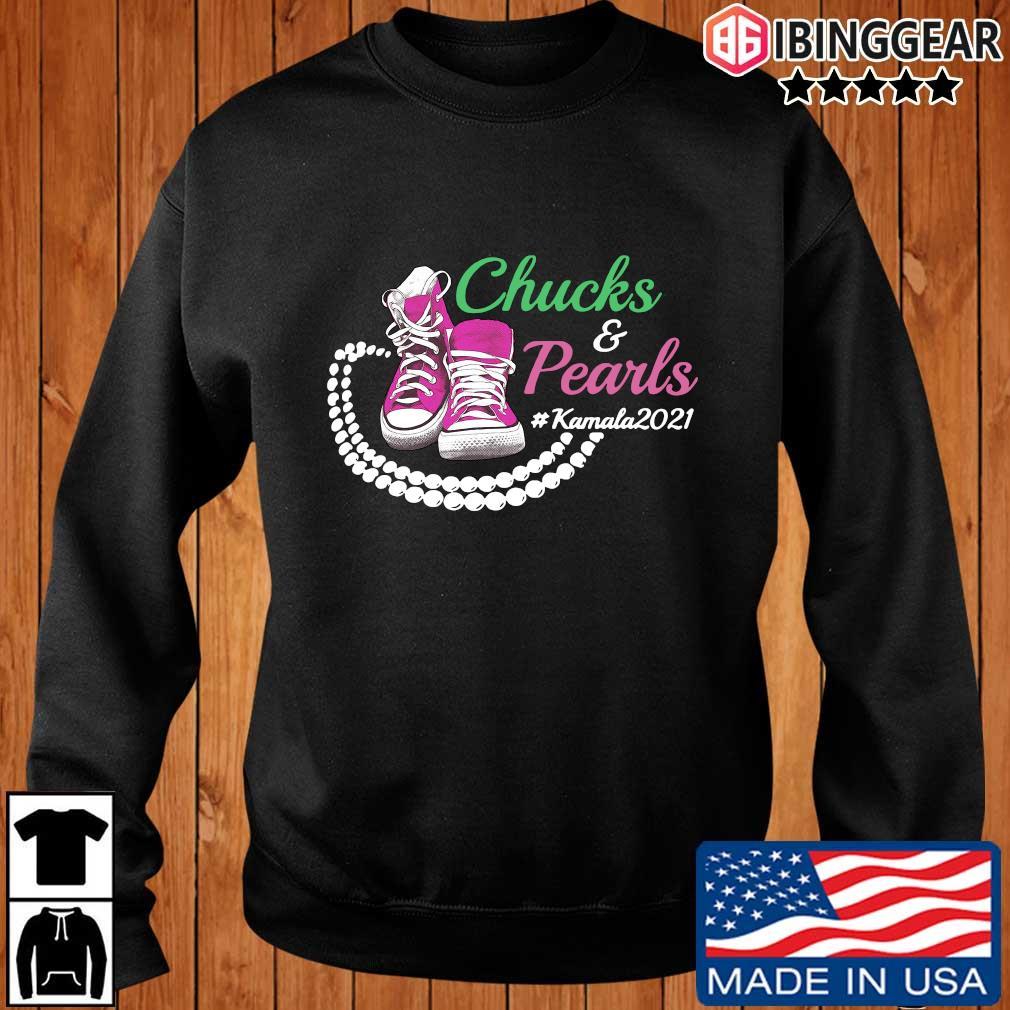 Kamala Harris Chucks And Pearls Aka Sorority 1908 T-Shirt Ibinggear sweater den