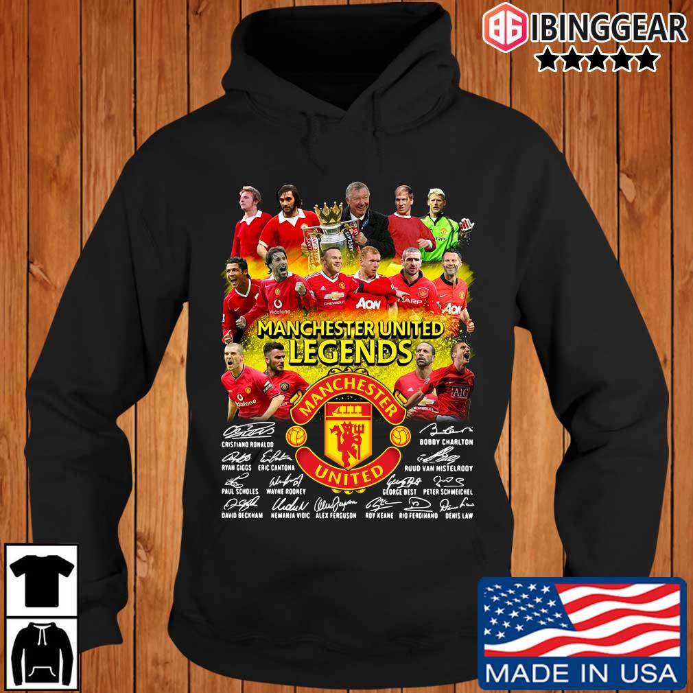 Manchester United Legends players signatures s Ibinggear hoodie den