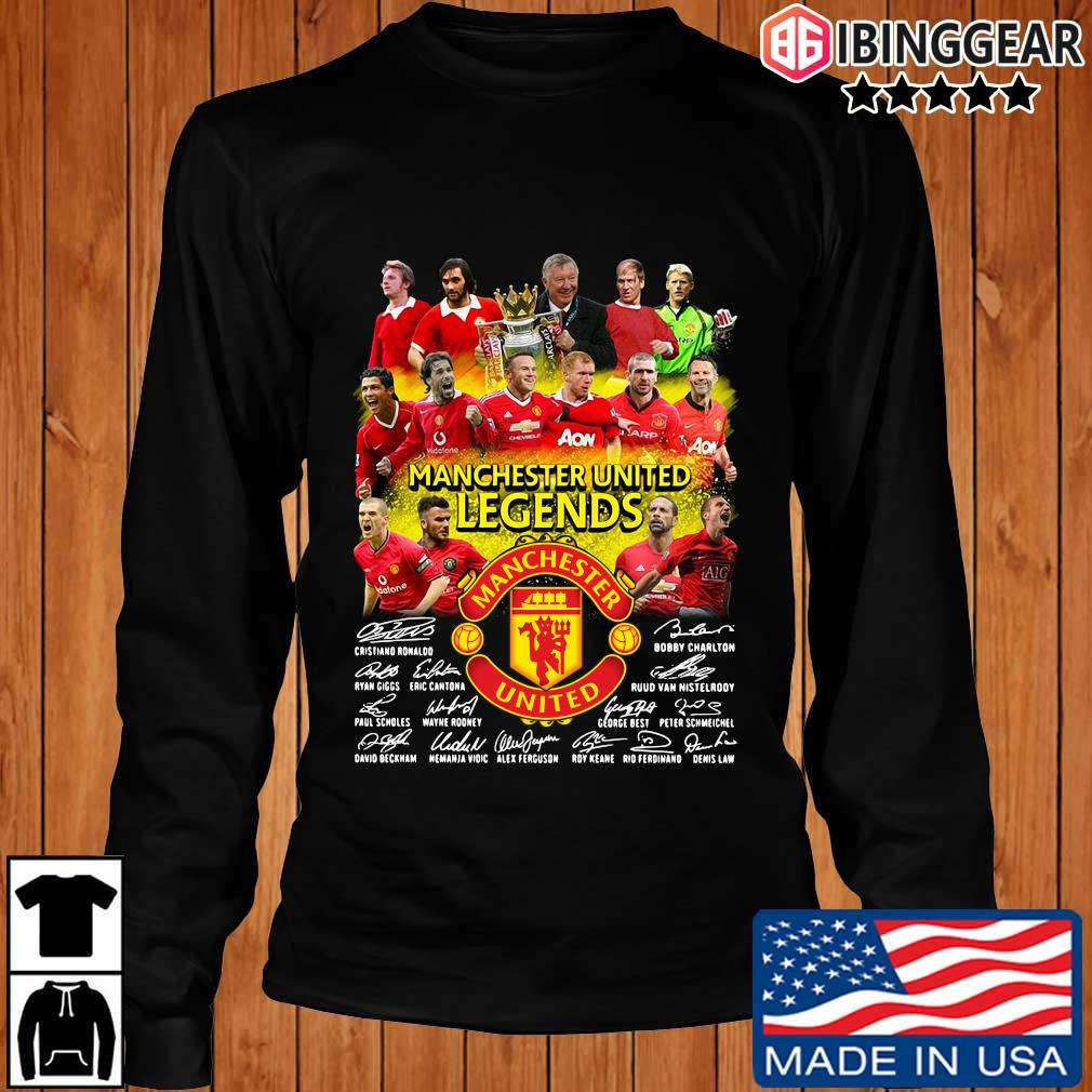 Manchester United Legends players signatures s Longsleeve Ibinggear den