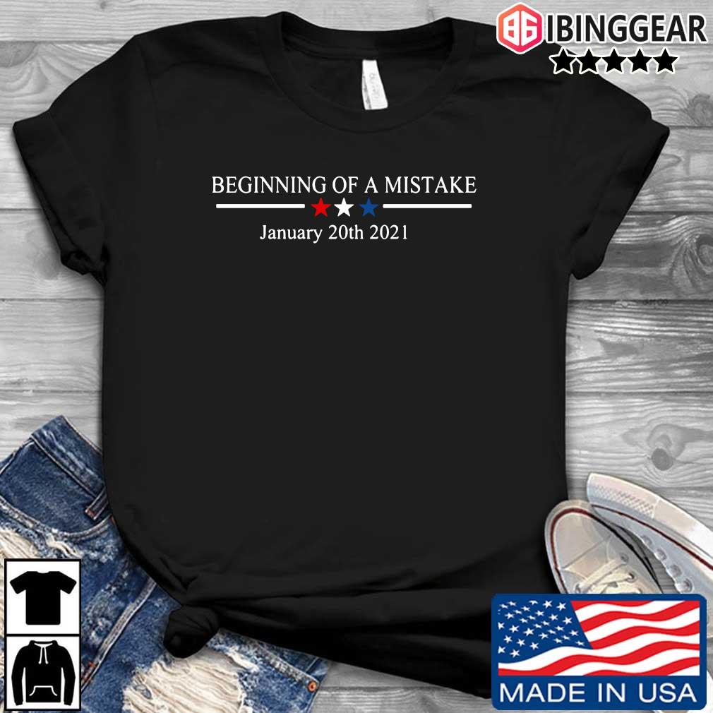 Official Beginning of a nightmare january 20th 2021 t-shirt