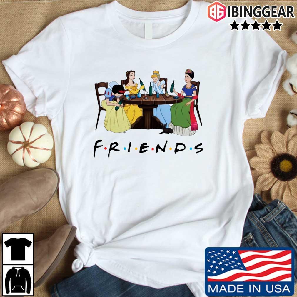 Official Frida Kahlo and Disney princesses drinking Friends TV show s Ibinggear den dai trang