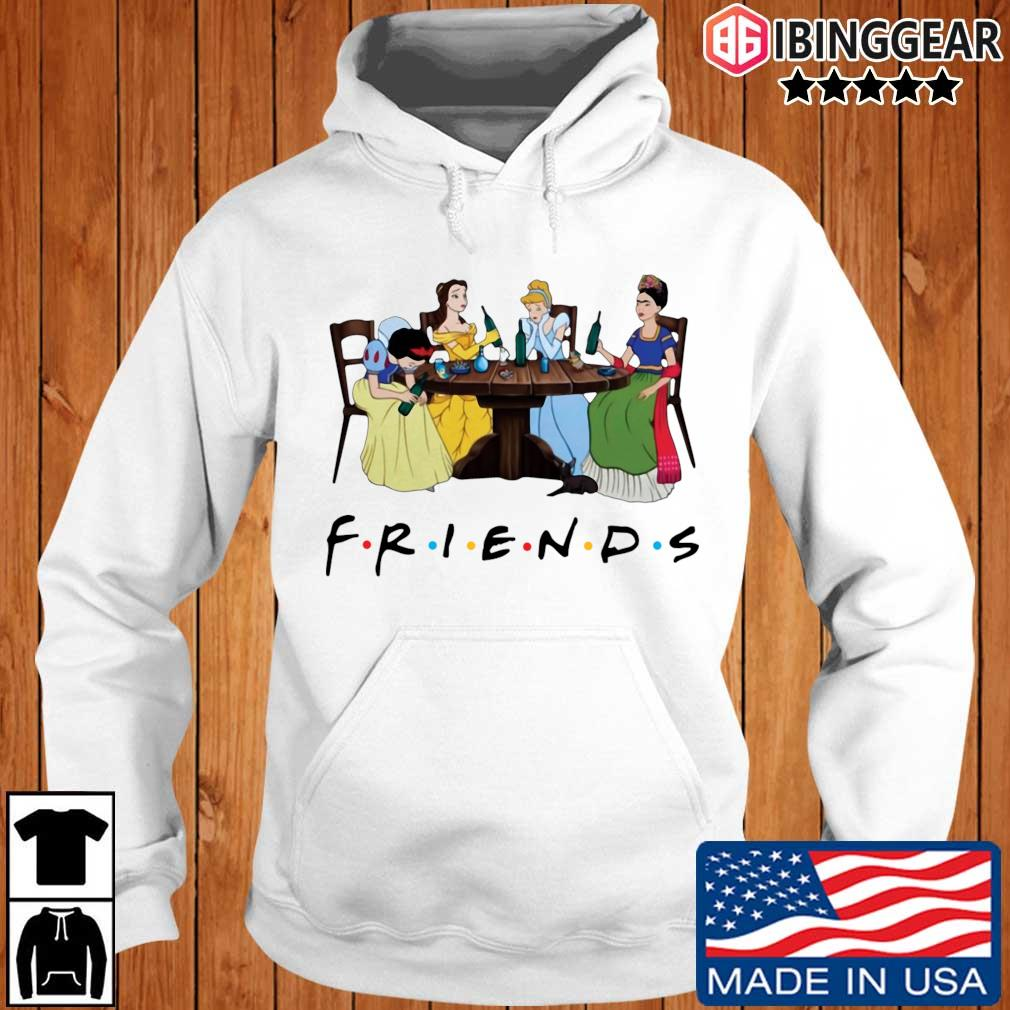Official Frida Kahlo and Disney princesses drinking Friends TV show s Ibinggear hoodie trang