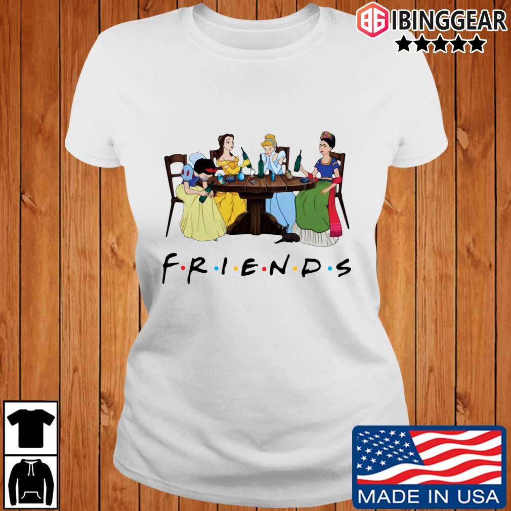Official Frida Kahlo and Disney princesses drinking Friends TV show s Ibinggear ladies trang