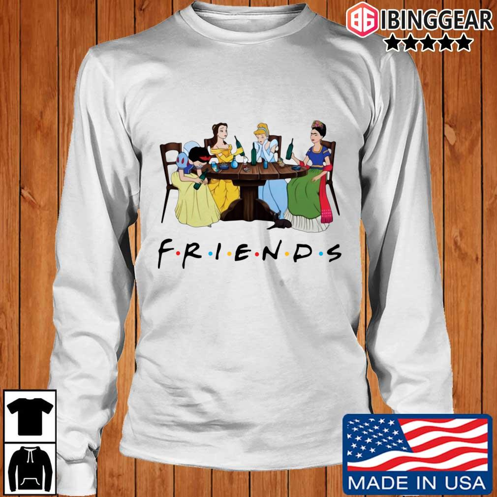 Official Frida Kahlo and Disney princesses drinking Friends TV show s Longsleeve Ibinggear trang