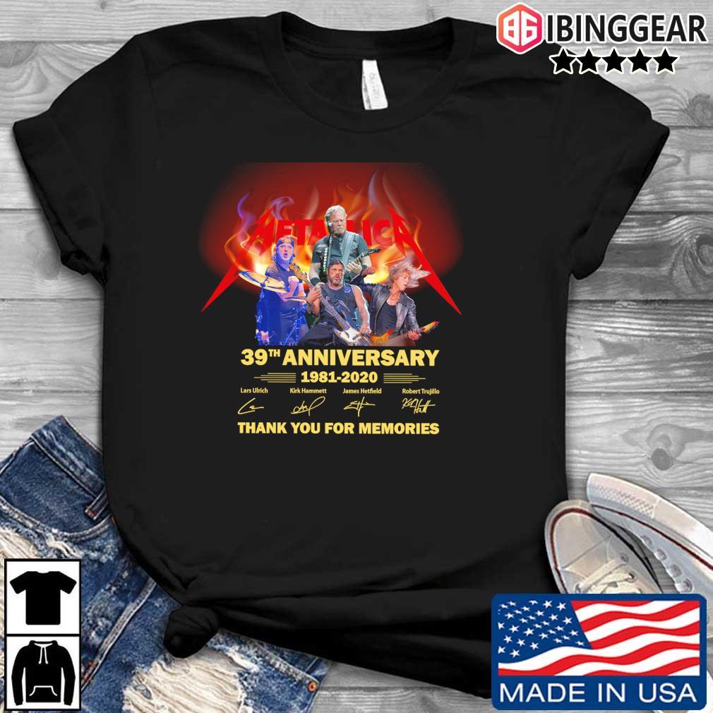 Official Metallica 39th anniversary 1981-2020 thank you for the memories signatures s Ibinggear den dai dien
