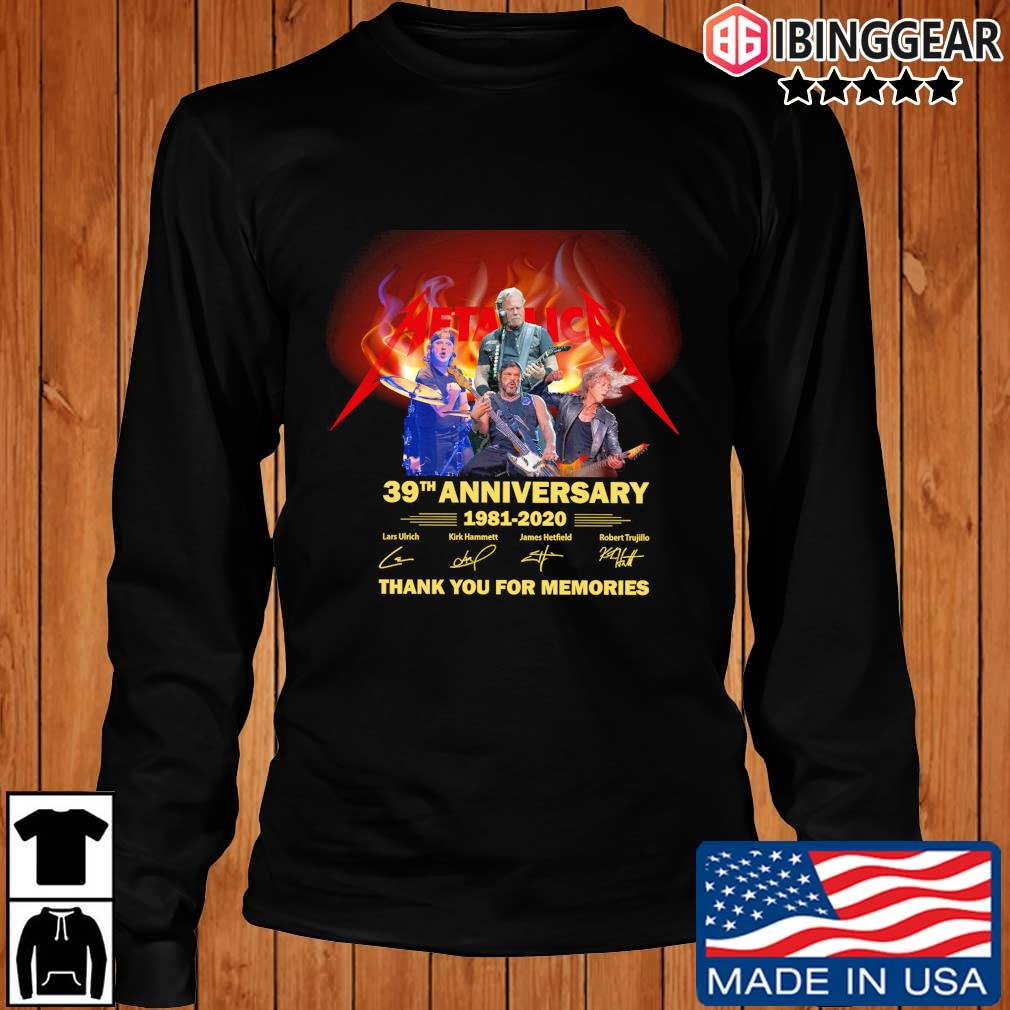Official Metallica 39th anniversary 1981-2020 thank you for the memories signatures s Longsleeve Ibinggear den