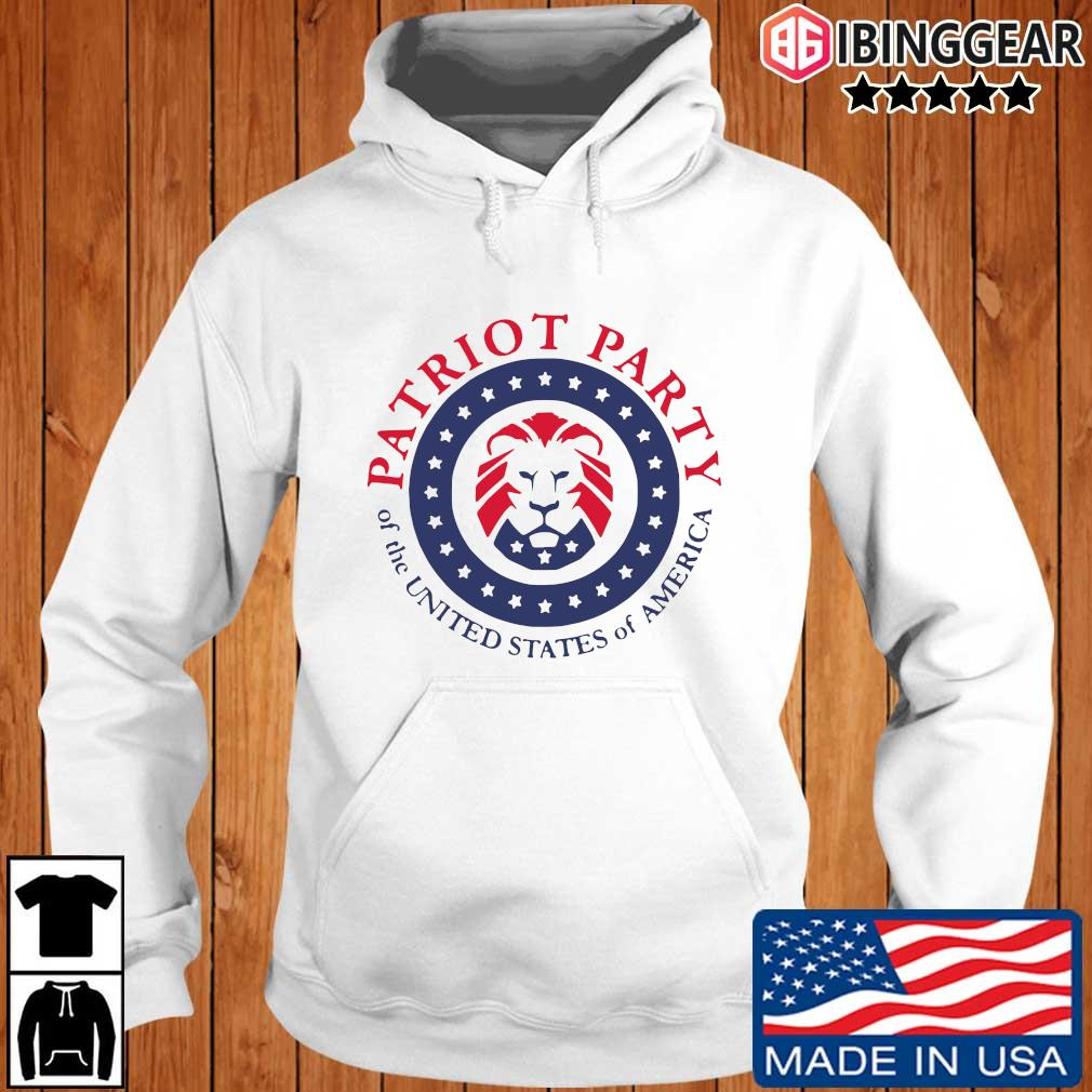 Official patriot party of the united states of America T-s Ibinggear hoodie trang