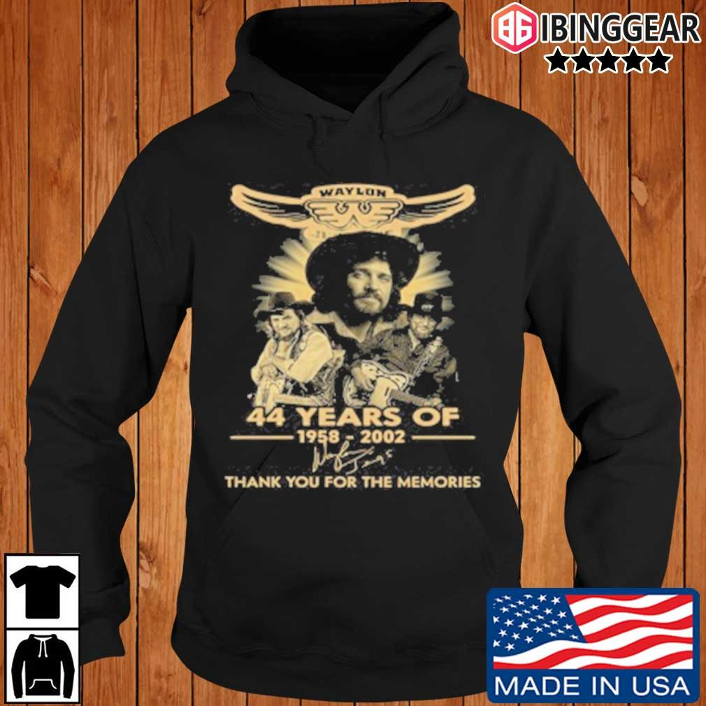 Official Waylon Jennings 44 Years Of 1958 2020 Signature Thank You For The Memories T-Shirt Ibinggear hoodie den