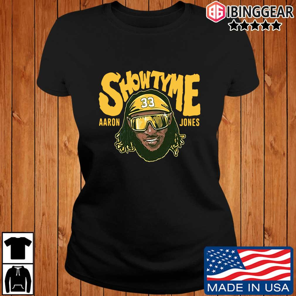 Showtyme Green Bay Packers Aaron Jones 33 shirt, sweater Ibinggear ladies den
