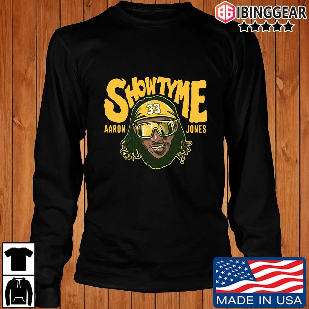 Showtyme Green Bay Packers Aaron Jones 33 shirt, sweater Longsleeve Ibinggear den