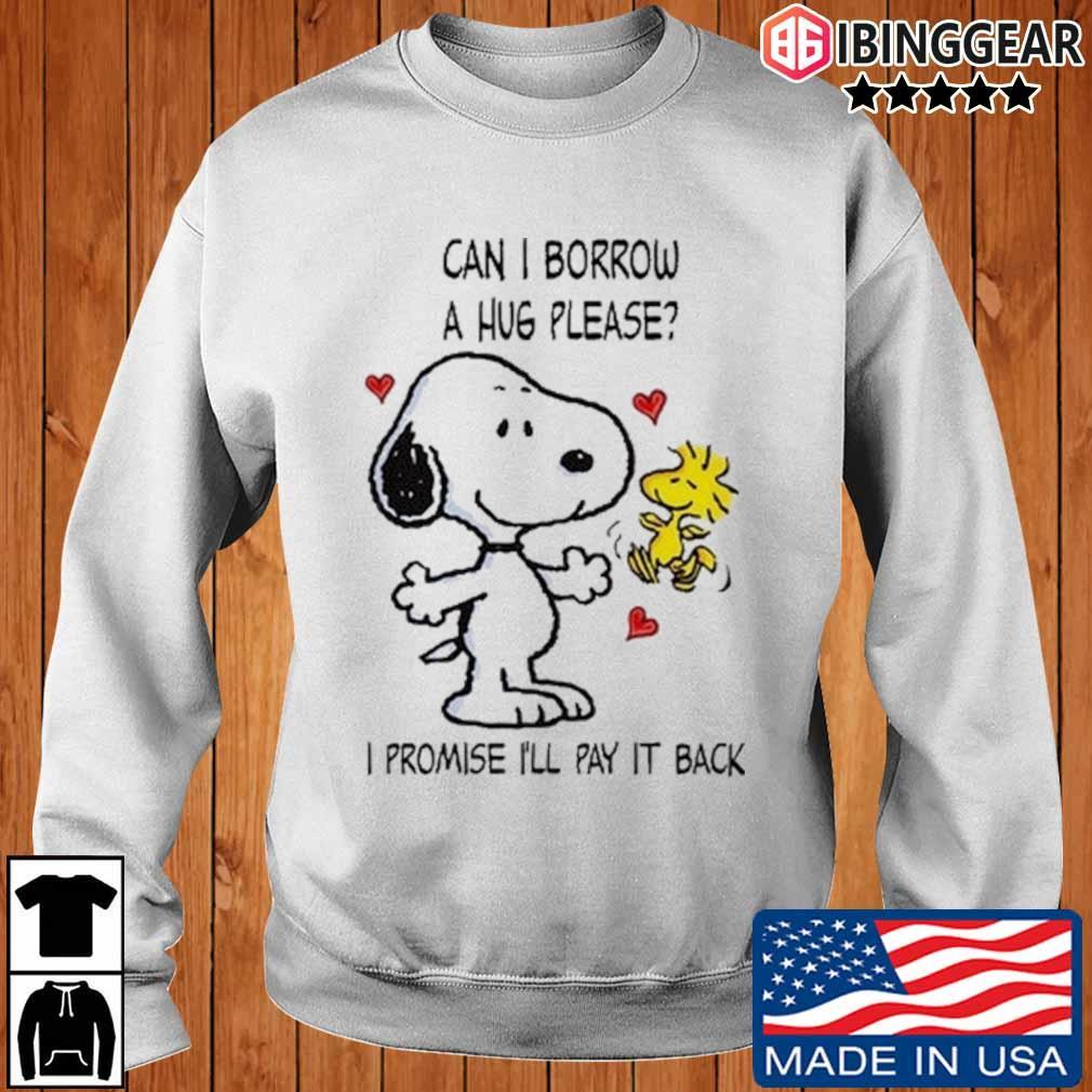 Snoopy and Woodstock can I borrow a hug please I promise I'll pay it back s Ibinggear sweater trang